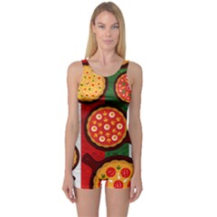 Pizza Italia Beef Flag One Piece Boyleg Swimsuit