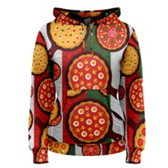 Pizza Italia Beef Flag Women s Pullover Hoodie