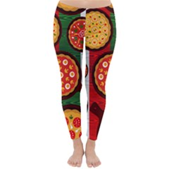 Pizza Italia Beef Flag Classic Winter Leggings