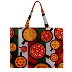 Pizza Italia Beef Flag Medium Zipper Tote Bag by Alisyart