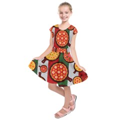 Pizza Italia Beef Flag Kids  Short Sleeve Dress