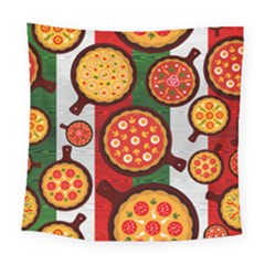 Pizza Italia Beef Flag Square Tapestry (large)