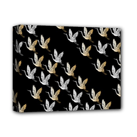 Goose Swan Gold White Black Fly Deluxe Canvas 14  X 11