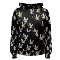 Goose Swan Gold White Black Fly Women s Pullover Hoodie