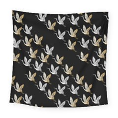 Goose Swan Gold White Black Fly Square Tapestry (large) by Alisyart