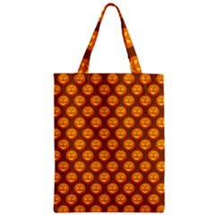 Pumpkin Face Mask Sinister Helloween Orange Classic Tote Bag by Alisyart