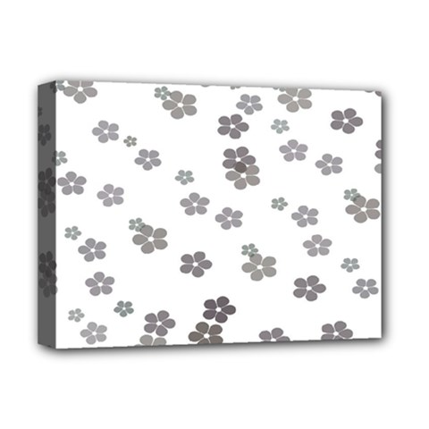 Flower Grey Jpeg Deluxe Canvas 16  X 12   by Alisyart