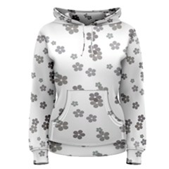 Flower Grey Jpeg Women s Pullover Hoodie