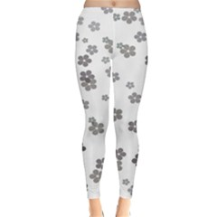 Flower Grey Jpeg Classic Winter Leggings