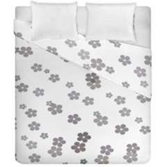 Flower Grey Jpeg Duvet Cover Double Side (california King Size)