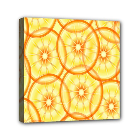 Lemons Orange Lime Circle Star Yellow Mini Canvas 6  X 6  by Alisyart
