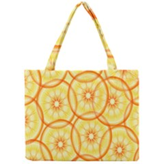 Lemons Orange Lime Circle Star Yellow Mini Tote Bag by Alisyart
