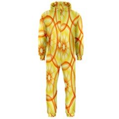 Lemons Orange Lime Circle Star Yellow Hooded Jumpsuit (men)
