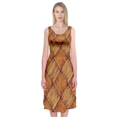 Vector Square Texture Pattern Midi Sleeveless Dress by Amaryn4rt