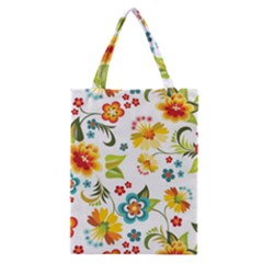 Flower Floral Rose Sunflower Leaf Color Classic Tote Bag by Alisyart