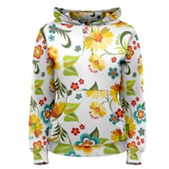 Flower Floral Rose Sunflower Leaf Color Women s Pullover Hoodie