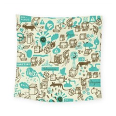 Telegramme Square Tapestry (small)