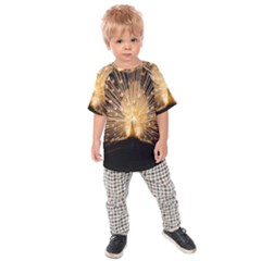 3d Beautiful Peacock Kids  Raglan Tee