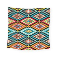 African Tribal Patterns Square Tapestry (small)