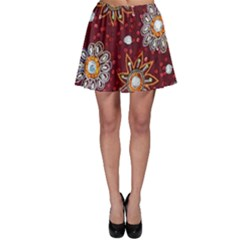 India Traditional Fabric Skater Skirt by Amaryn4rt