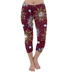 India Traditional Fabric Capri Winter Leggings  by Amaryn4rt