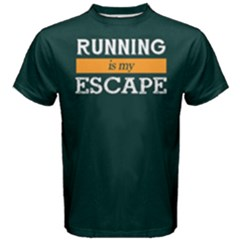 Running Is My Escape   Men s Cotton Tee by FunnySaying