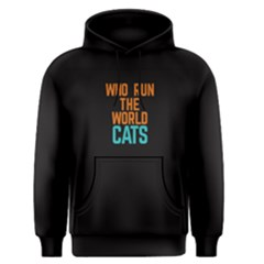 Black Who Run The World Cats  Men s Pullover Hoodie by FunnySaying