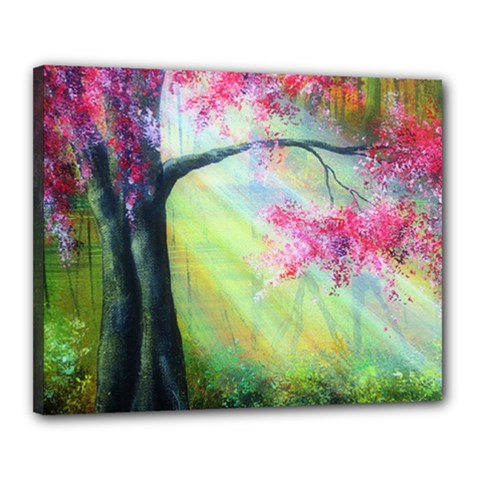 Forests Stunning Glimmer Paintings Sunlight Blooms Plants Love Seasons Traditional Art Flowers Sunsh Canvas 20  X 16  by Amaryn4rt
