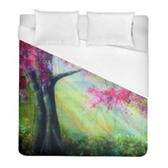Forests Stunning Glimmer Paintings Sunlight Blooms Plants Love Seasons Traditional Art Flowers Sunsh Duvet Cover (full/ Double Size) by Amaryn4rt