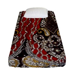 Indian Traditional Art Pattern Fitted Sheet (single Size) by Amaryn4rt