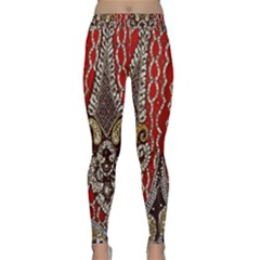 Indian Traditional Art Pattern Classic Yoga Leggings by Amaryn4rt