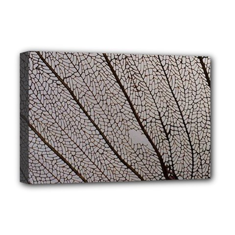 Sea Fan Coral Intricate Patterns Deluxe Canvas 18  X 12   by Amaryn4rt