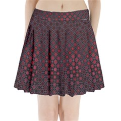 Star Patterns Pleated Mini Skirt
