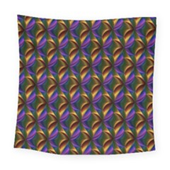 Seamless Prismatic Line Art Pattern Square Tapestry (large)