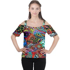 Vector Art Pattern Women s Cutout Shoulder Tee by Amaryn4rt