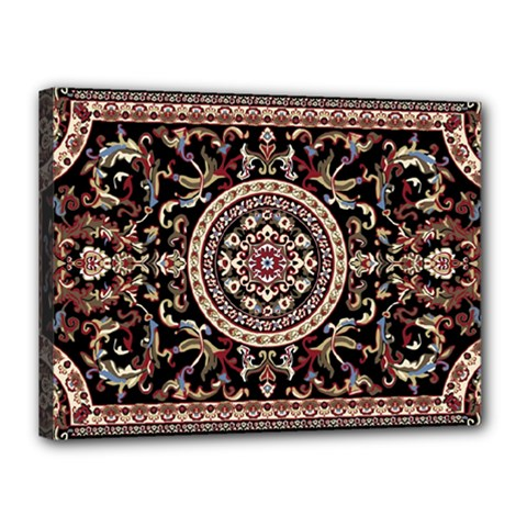 Vectorized Traditional Rug Style Of Traditional Patterns Canvas 16  X 12  by Amaryn4rt