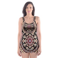 Vectorized Traditional Rug Style Of Traditional Patterns Skater Dress Swimsuit
