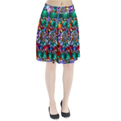 Rainbow Spiral Beads Pleated Skirt by WolfepawFractals
