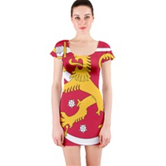 Coat Of Arms Of Finland Short Sleeve Bodycon Dress