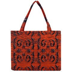 3d Metal Pattern On Wood Mini Tote Bag by Amaryn4rt