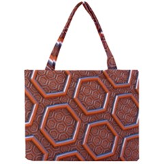 3d Abstract Patterns Hexagons Honeycomb Mini Tote Bag by Amaryn4rt