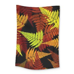 3d Red Abstract Fern Leaf Pattern Small Tapestry by Amaryn4rt