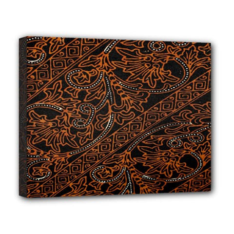 Art Traditional Indonesian Batik Pattern Deluxe Canvas 20  X 16
