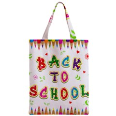 Back To School Zipper Classic Tote Bag by Amaryn4rt