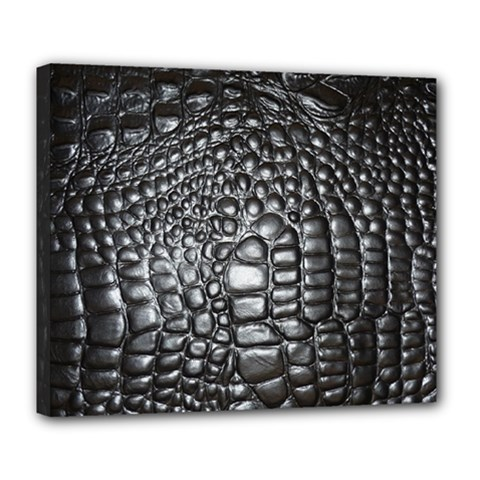 Black Alligator Leather Deluxe Canvas 24  X 20   by Amaryn4rt