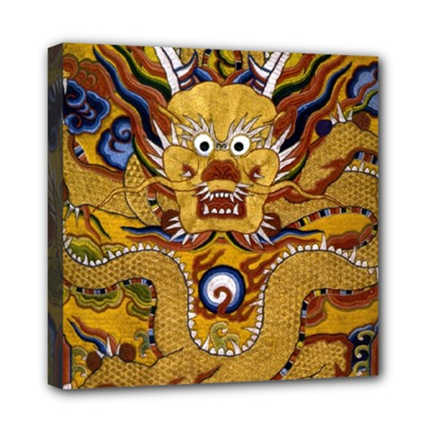 Chinese Dragon Pattern Mini Canvas 8  X 8