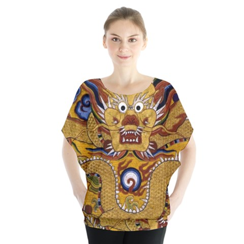 Chinese Dragon Pattern Blouse by Amaryn4rt