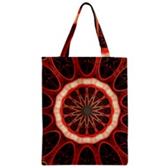 Circle Pattern Zipper Classic Tote Bag by Amaryn4rt