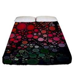 Circle Abstract Fitted Sheet (california King Size)