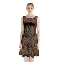 Digital Camouflage Sleeveless Chiffon Waist Tie Dress by Amaryn4rt